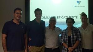 Con el equipo de Hermes Interactiva trabajando el TALLER COMUNICA